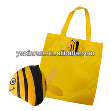 favor style polyester yellow fish shape foldable bag