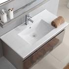 Bathroom different size thin sink rectangular cabinet basin
