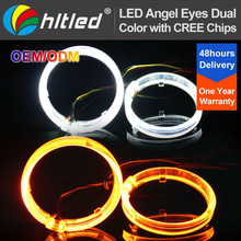 2.5'' 3.0'' high power dual color LED optical angel eyes with DRL and turning light function