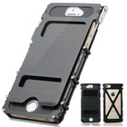 360 stainless steel metal flip over mobile phone bumper case for iPhone5 5s(Dobule Viewing Windows Version)