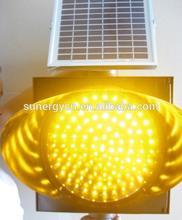 300mm yellow Led solar traffic light 18V 7W Solar panel