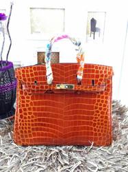 2015 guangzhou factory good sale wholesale unique most popular crocodile imitation leather lady bag