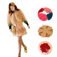 Factory Price 2014 Single Chip Cloth Flowers Fashion Magic Hair Paste