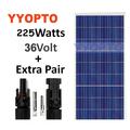 Pannello solare 2 pezzi 225w watt 400w poli off grid 12/24/48v rv barca nave in 24 ore