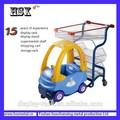 Projeto conveniente para supermercado criança carrinho de compras com encantador dos desenhos animados car HSX-P-412