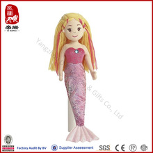 Custom electric toy for kids sex girl toy plush talking toy mermaid dolls ICTI Sedex WCA SA800 audit factory