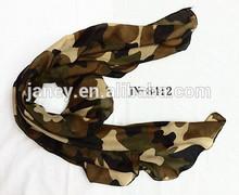 155*70cm fashion military design chiffon scarf