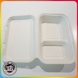 Biodegradable Sugar Cane Pulp Food Packaging Container