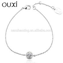 OUXI 2014 fashionable bracelet love made with swarovski elements 30265-1