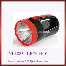 Free logo chaozhou factory rechargeable led flashlight