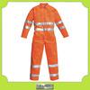 Custom mens safety orange hi-vis working coveralls workwear uniforms