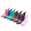 Fabbrica stivali da equitazione, u semplice pvc stivali da pioggia a buon mercato, stivali da pioggia donna, produttore di stivali pioggia elastico