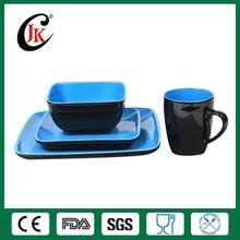 New design modern square cheap ceramic dinner set, fine porcelain dinner set