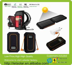 Letsolar 6000mAh lithium polymer battery high efficiency solar panel for 19v solar laptop charger