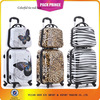 2014 new design beautiful butterfly PC trolley luggage travel bags