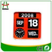 Hot sale Popular Flip Flap Calendar Wall Clock