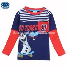 (A5486Y) High quality children casual wear boys fashionable striped t shirt in autumn
