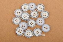 Fancy 4 holes laser engraved shirt button wholesale for garment accessories