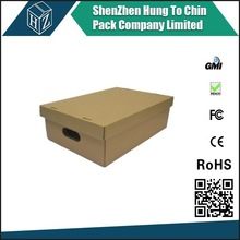 Popular hot sales manufacturer custom various size brown storage box with holes