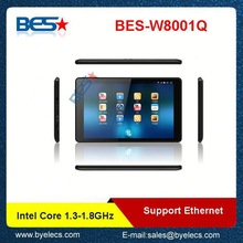 IPS Screen 1280*800 Ethernet Network Supported 3g laptop tablet pc combined