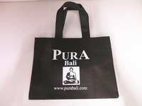 fashion laminated non woven bags with brand logo printed