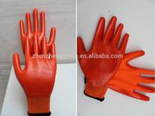 Blue nitrile coated work glove