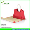 LUDA Canvas Bag With Straw Mat Beach Sets
