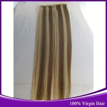 China Online Selling Kason Hair Products Brazilian Straight Human Hair White Blonde Tape Hair Extensions