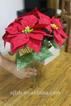 High quality artificial flowers cheap artificial poinsettia flower