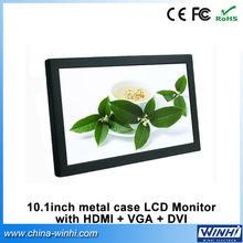2015 Hot sex black metal shell 1080P signal supported small 12V/1.5A 10 lcd vga monitor