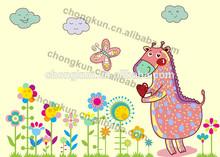 2014 Original design cartoon horse PP/PET placemat/3D picture beautiful artwork