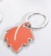 custom polish metal promotional gift keychain maple leaf