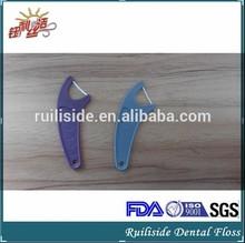 Waxed Disposable Nylon Dental Floss Pick/Toothpick