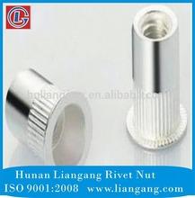 aluminum flat head knurled body blind nut riveter