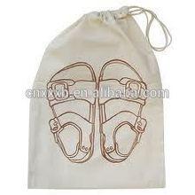 Natural 100% wholesale cotton fabric drawstring bag For Shoe/Handbag/bottle/Jewelry