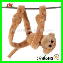 E113 Factory Produce Hanging Magnetic Plush Monkey