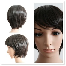 high quality fashion lady short synthetic wigs for sale factory price