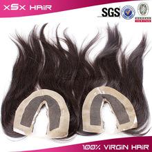 cheap price good feedback remy hair 5x5 silk top closure pieces