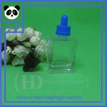 top quality 1oz glass bottle 30ml square glass dropper bottle mass stock