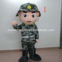Vivid del ejército del traje adulto del ejército traje de la mascota de venta