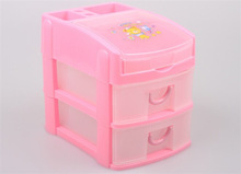 2014 fashional design 2 layers plastic drawer storage boxes with handle,can add drawers