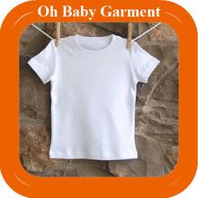 100% Cotton White T-Shirt Children Custom Round Neck T-Shirt Wholesale Made In China