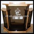 Alta pulido y transparente de la iglesia púlpito / cristal púlpito / de madera púlpito