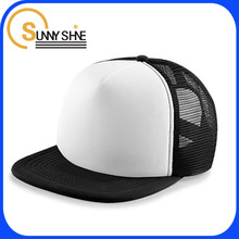 2014 new design high quality flat brim blank mesh trucker caps