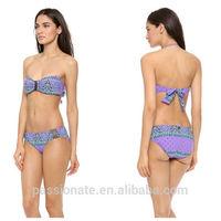 Indian Pattern 3D Digital Print Sexy Extreme Lady Bandeau Custom Bikini