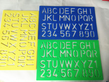 New Factory Direct Sale OEM High Quality Plastic Letter Stencil Ruler ruler for cutting glass