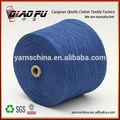 5S Cone tubo OE tingido poliéster reciclado misturado algodão fio para tecelagem tricô ponchos