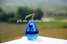 seven cloor crystal fruit pear,blue color fruit model