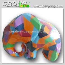 animal fibreglass elephant , creative interior decoration sculptures, shopping Mall decorative sculpture figures
