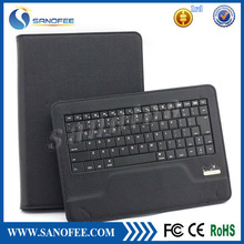 Universal 8.9~10.1 inch tablet portfolio leather Case W/ detachable bluetooth keyboard for Android / IOS / Windows Systems